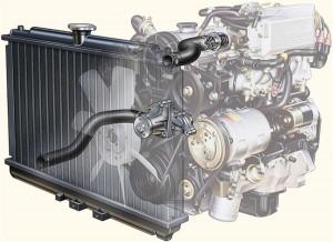 Радиатор и двигатель